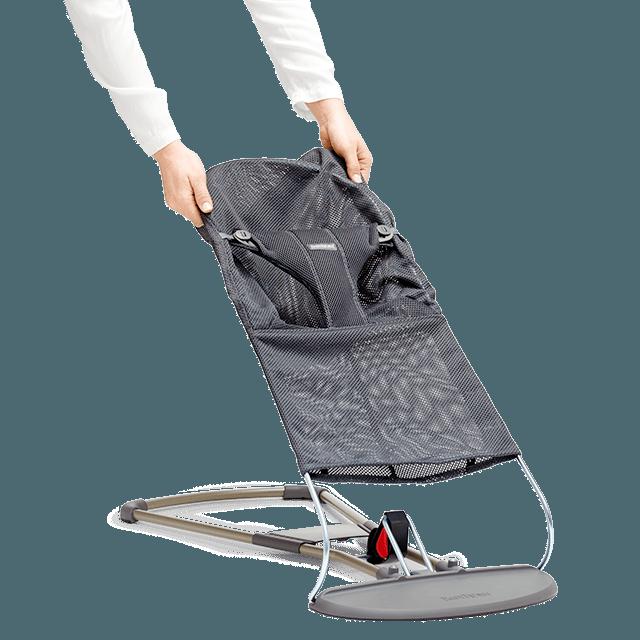 BABYBJORN - Сменный текстиль для шезлонга, цвет темно-серый, Mesh. Дышащая сетка