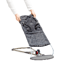 BABYBJORN - Сменный текстиль для шезлонга, цвет темно-серый, Mesh. Дышащая сетка, фото 1