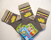 Цветные детские носки песочного цвета с машинкой