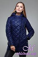 Женская весенняя батальная куртка с капюшоном (р. 42-54) арт. Дилия