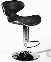 Барный стул высокий Салли, черный поворотный, высота регулируется 47*51*84-105 см