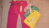 Коттоновые брюки яркие 8-12лет