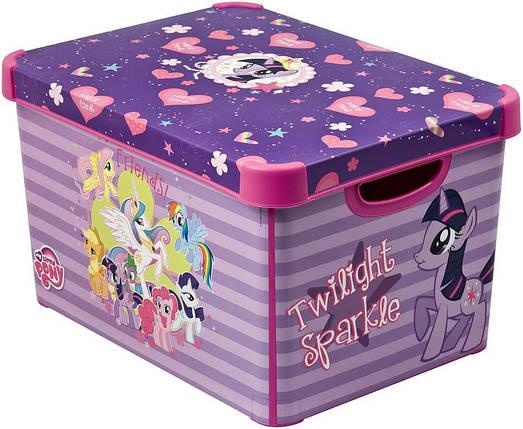 Ящик для хранения детский My Little Pony L, Curver 210628, фото 2