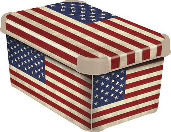 Ящик для хранения декоративный США S, Curver 205489, фото 2
