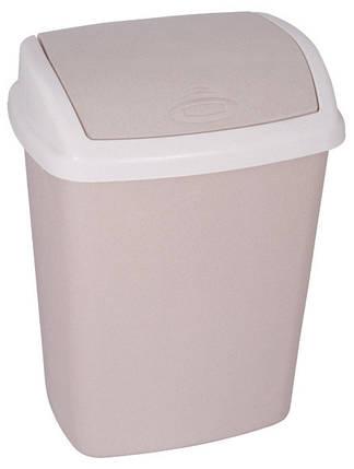 Ведро для мусора 25 л Dominik бежевое, Curver 182982, фото 2