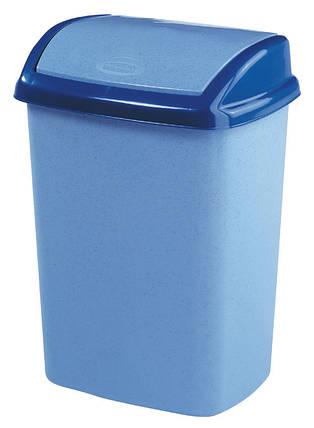 Ведро для мусора 25 л Dominik голубое, Curver 182980, фото 2
