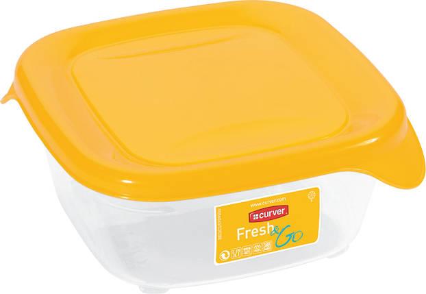 Емкость Fresh&Go 0,25л квадратная желтая, Curver (Польша), фото 2