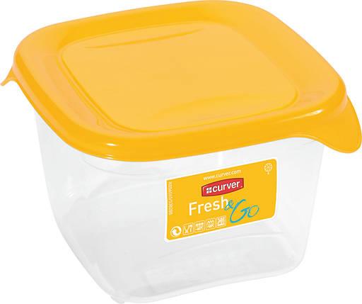 Емкость Fresh&Go 0,45л квадратная желтая, Curver (Польша), фото 2
