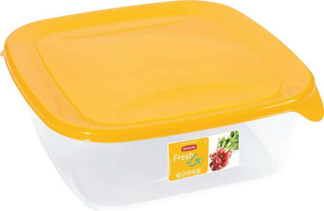 Емкость Fresh&Go 0,8л квадратная желтая, Curver (Польша), фото 2
