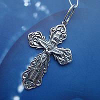 Серебряный крестик с распятием, 5,1 грамма