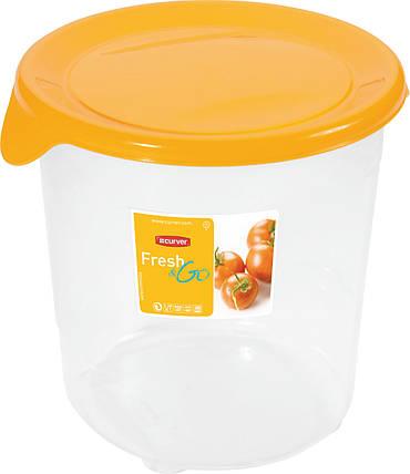 Емкость Fresh&Go 1 л круглая желтая, Curver (Польша), фото 2