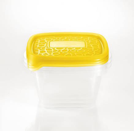 "Набор емкостей ""Take Away 2"" квадр. 3х1,1л желтый, Curver (Польша), фото 2"