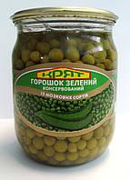 """Горошек зеленый консервированный из мозговых сортов. Сорт высший. ТМ """"КРЯТ"""", СКО"""