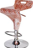 Барный стул-табурет хокер Флит хромированный сиденье акрил с узором