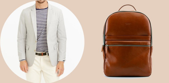 Сочетания пиджака и рюкзака