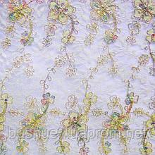 Сетка с декоративной вышивкой