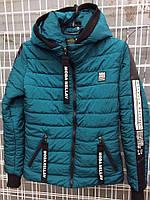 Демисезонная женская куртка хорошего качества, цвета бутыль