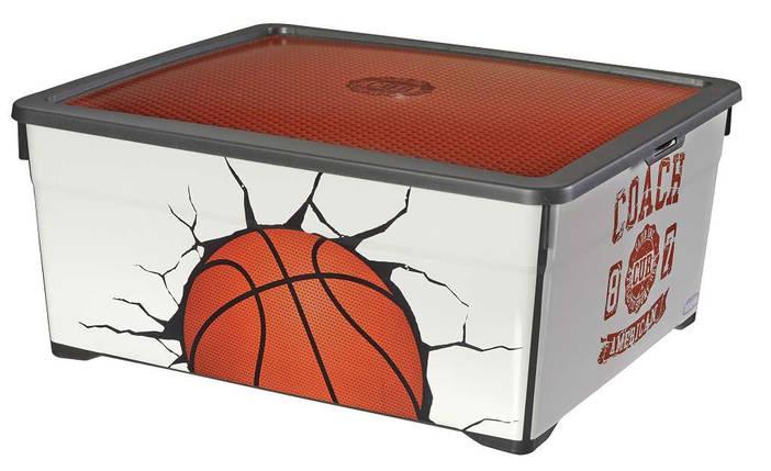 Ящик для хранения с крышкой Баскетбол 18,5 л, Curver 213831, фото 2