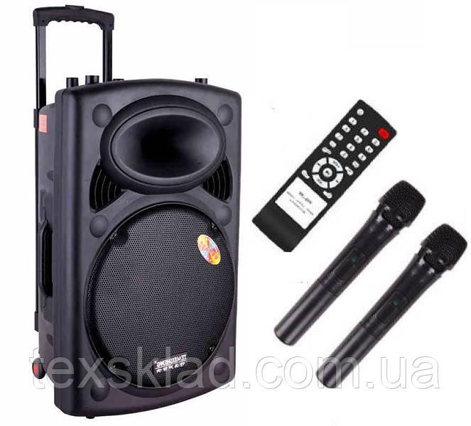 Акустика на аккумуляторе Dp-297 с радиомикрофонами (USB/FM/Bluetooth)