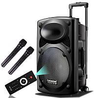 Акустика на акумуляторе DP 297F с двумя микрофонами (USB/FM/Bluetooth)
