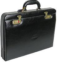 Мужской кейс дипломат из искусственной кожи 4U Cavaldi черный CD-296