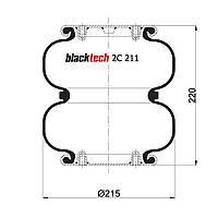 Пневмоподушка Weweler Schmitz 2C211220P01 (BLACKTECH)