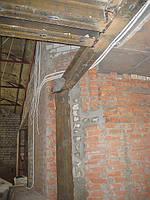 Демонтаж несущих кирпичных стен с усиление металлом согласна проекту
