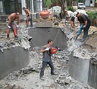 Демонтаж бетона, отбойными молотками, бетоналомами
