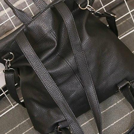 Женский рюкзак- сумка из кожзама