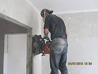 Алмазная резка проемов в панельных домах с усилением металлом