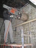 Сверление отверстий под вентиляцию большим диаметром