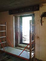 Алмазная резка проема в подвале панельного домов (отдельный выход)