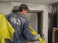 Алмазная резка оконных проемов с усиление металлом