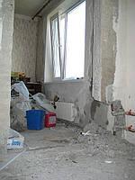 Исправление строительного брака при резке проема в несущей стене, панельного дома