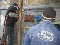 Алмазное сверление отверстий в фасадных кирпичных стенах