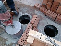 Алмазное сверление отверстий в плитах перекрытиях под коммуникации диаметром от 18 мм до 650 мм.