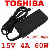 Блок питания для ноутбука Toshiba  220 15V 4A 60W 6.3*3.0mm