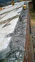 Резка пустотных плит перекрытия (ручным резчиком)