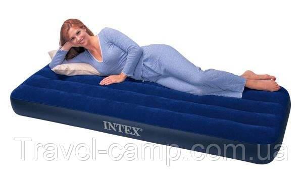 Односпальний надувний матрац Intex 68950