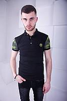 Классная мужская футболка Philipp Plein черная