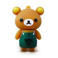 Флешка 8 Gb силиконовая Медвежонок