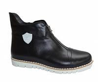 Женские спортивные ботинки из натуральной кожи декорированы молнией