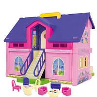 Большой двухэтажный домик  для кукол Wader