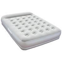 Велюровая кровать Bestway (67459),203*152*38 см,с электро-насосом и подголовником