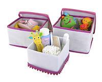 """Набор коробок для хранения мелочей """"Кружево"""" 3 шт. бел., Design Line 31-WH"""
