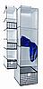 Органайзер вертикальный 4 полочки Black&White 30*30*84 см, Design Line (Украина) 2223