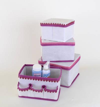 """Корзинка с кармашками для хранения мелочей """"Кружево"""" бел., Design Line 01-WH, фото 2"""