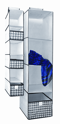 Органайзер вертикальный 6 полочек Black&White 15*30*84 см, Design Line (Украина) 2222, фото 2