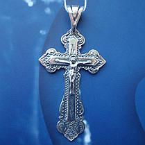 Серебряный крестик с распятием, 7,5 грамма, фото 3
