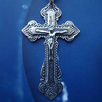 Серебряный крестик с распятием, 7,5 грамма, фото 2